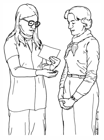 Illustration, APhA Pharmacist Consulting with a Customer