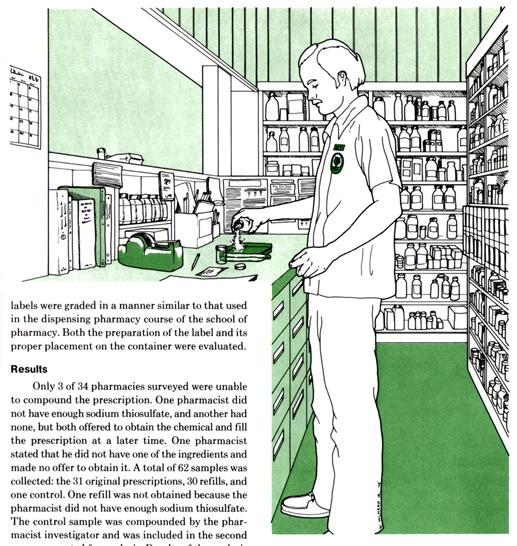 Illustration, APhA Pharmacist at Work