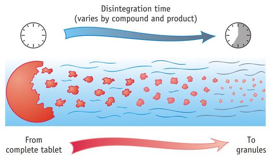 Drug Disintegration Medical Diagram