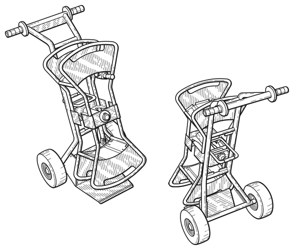 Patent Illustration of a Cart Ornamental Design