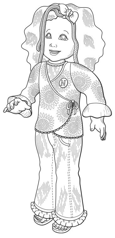 Patent Design Illustration, Niya Baby Doll, Front