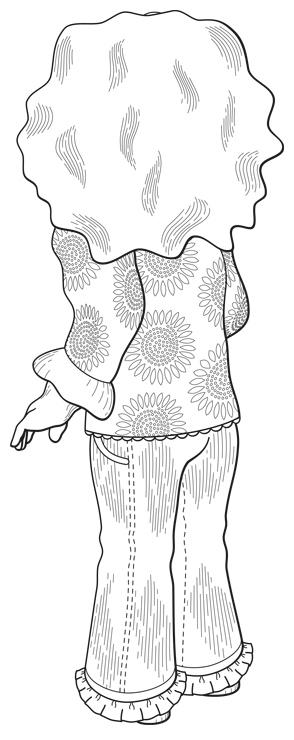Patent Design Illustration, Niya Baby Doll, Back