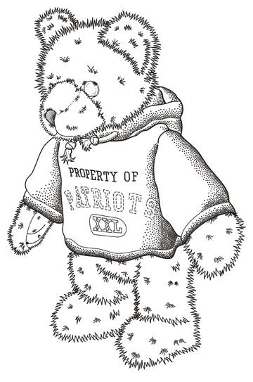 Patent Design Illustration of a Mascot Bear