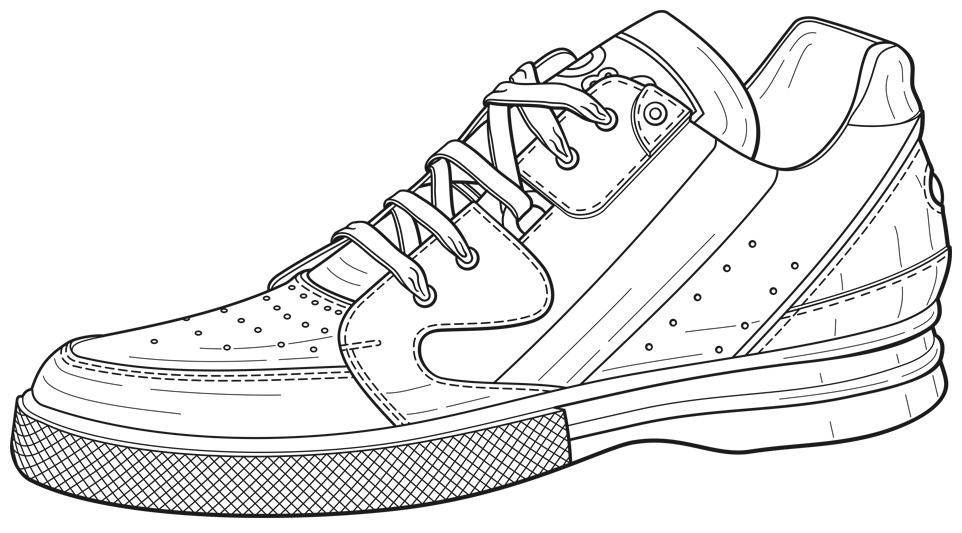 printable tennis shoe coloring pages - photo#36